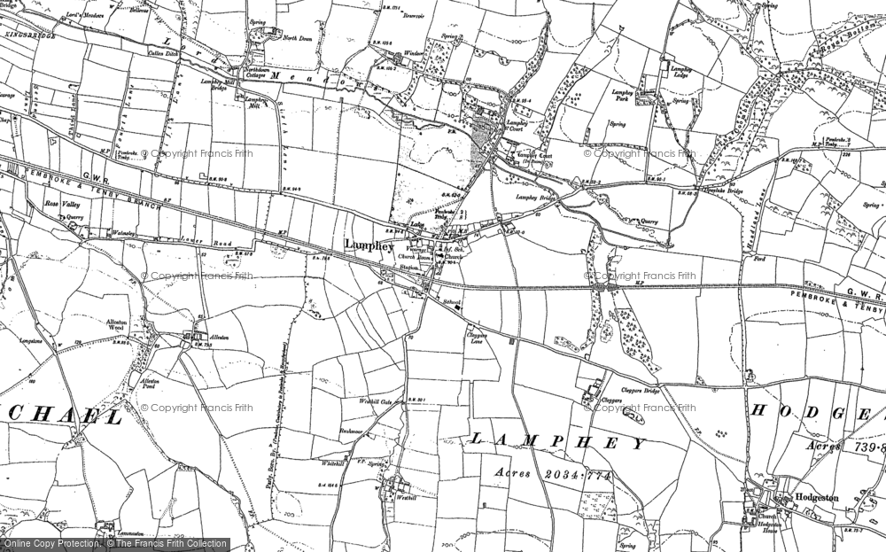 Old Map of Historic Map covering Alleston in 1906