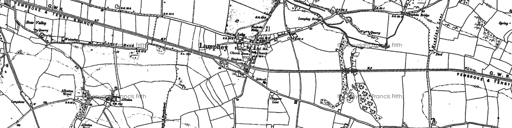 Old map of Alleston in 1906