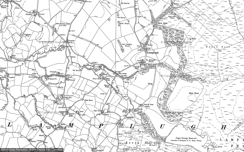 Old Map of Historic Map covering Woodend in 1898