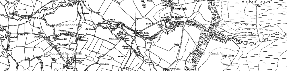 Old map of Wisenholme Beck in 1898