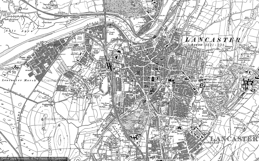 Old Map of Historic Map covering Abraham Heights in 1910