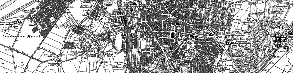 Old map of Williamson Park in 1910