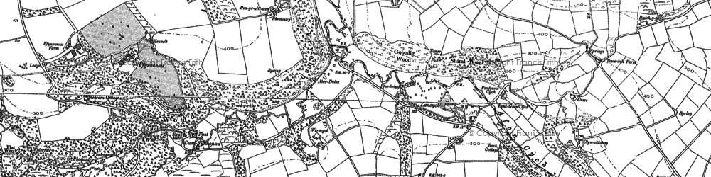 Old map of Afon Cych in 1887