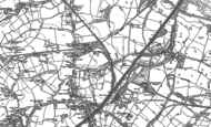 Old Map of Land Gate, 1892