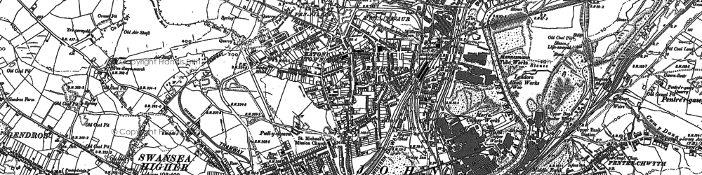 Old map of Landore in 1897