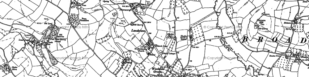 Old map of Woolston Green in 1886