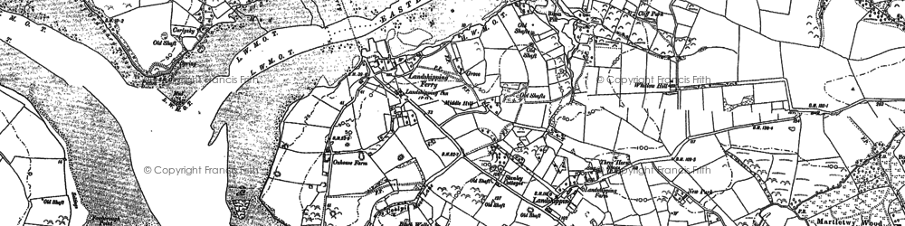 Old map of Weston in 1887
