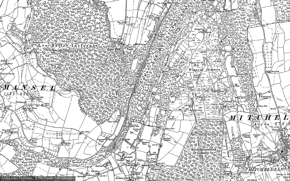 Old Map of Historic Map covering Lea Bailey Inclosures in 1901
