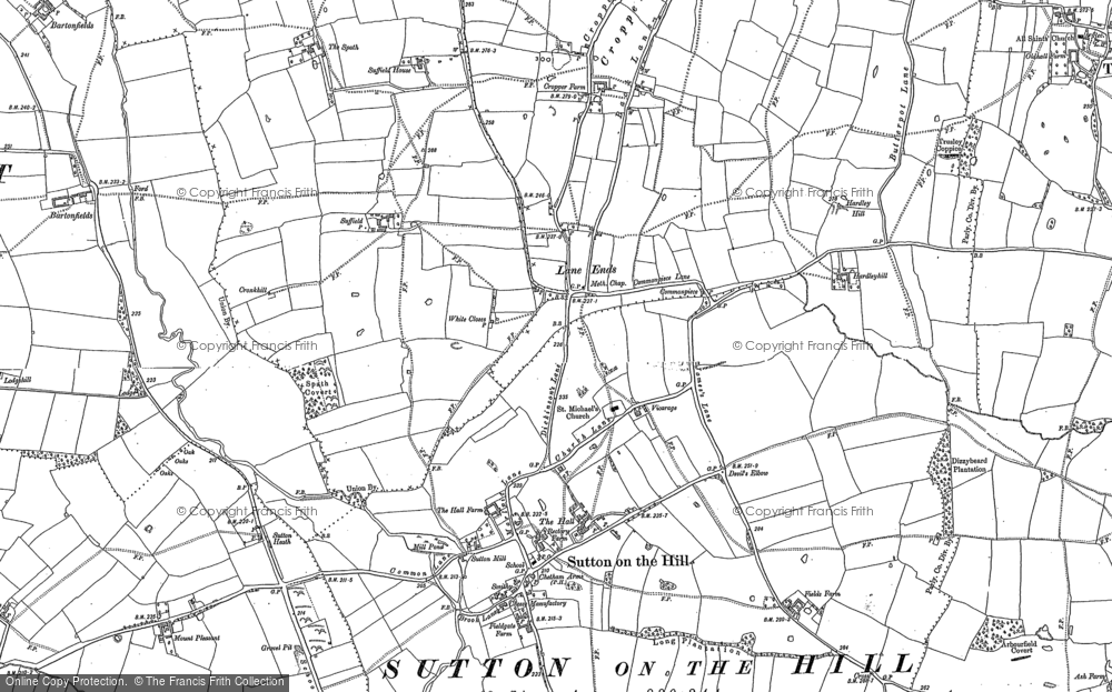 Old Map of Lane Ends, 1880 - 1900 in 1880