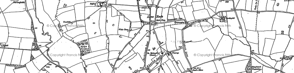 Old map of Lane Ends in 1880