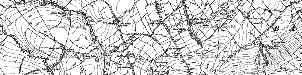 Old map of Lane Side in 1907