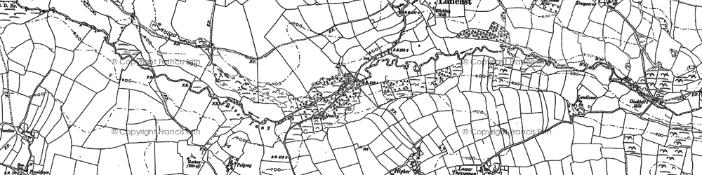 Old map of Laneast in 1882