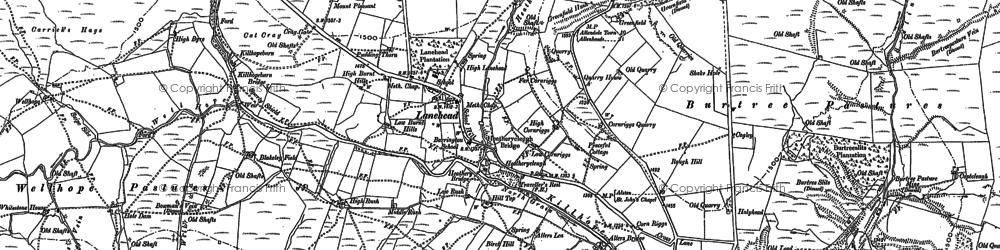 Old map of Whitestone Ho in 1895