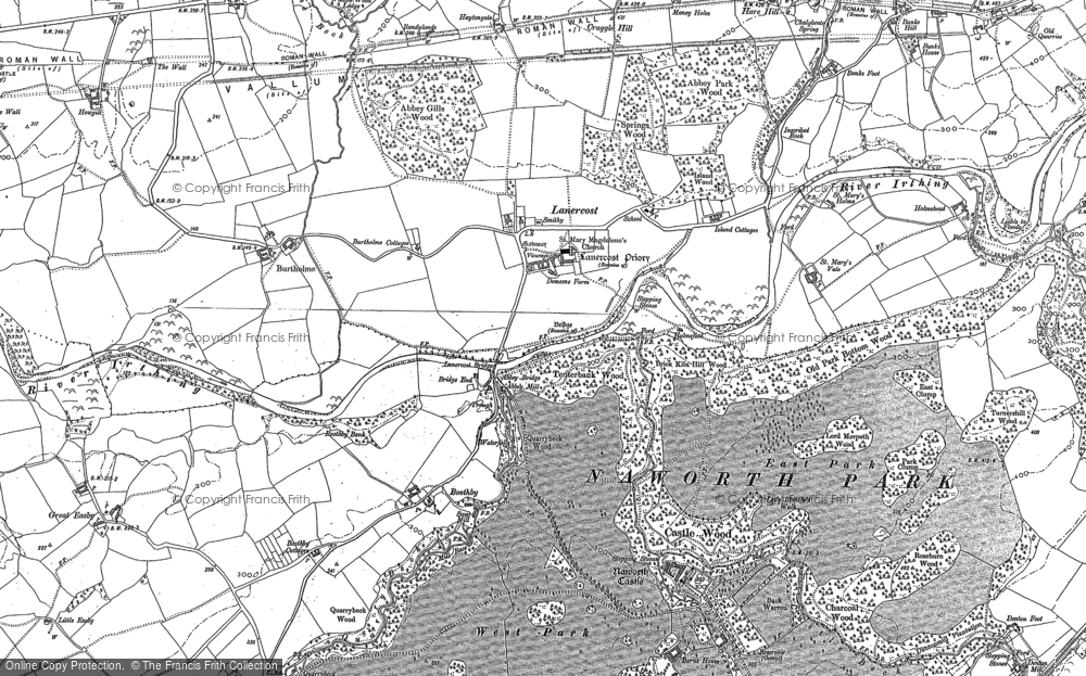 Old Map of Lanercost, 1899 in 1899