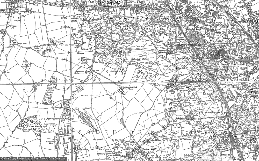 Old Map of Lanesfield, 1884 - 1885 in 1884