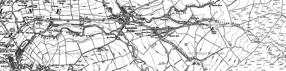 Old map of Wycoller in 1907