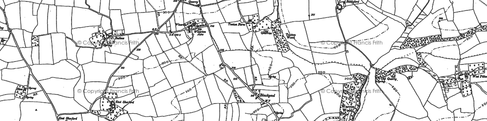 Old map of Wiverton in 1905