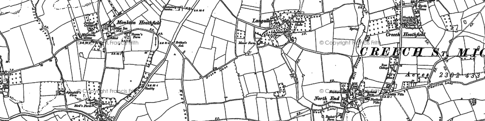 Old map of Langaller in 1887