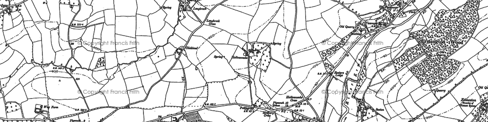 Old map of Langbrook in 1886