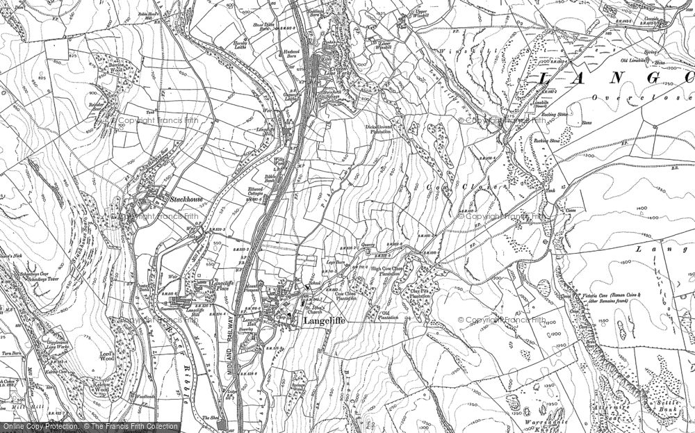 Map of Langcliffe, 1907