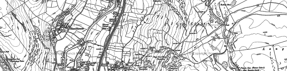 Old map of Langcliffe in 1907