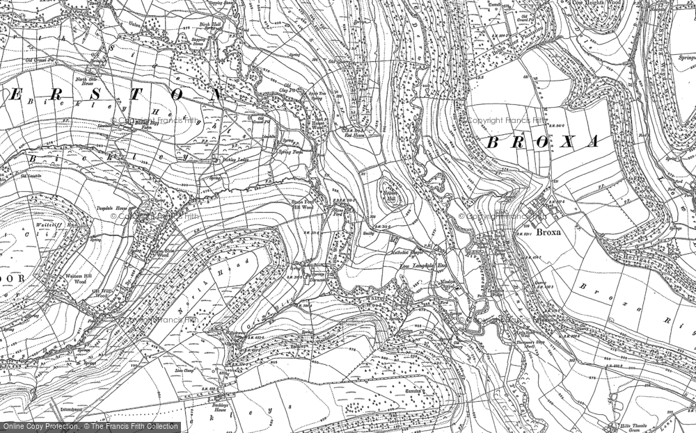 Old Map of Langdale End, 1890 in 1890