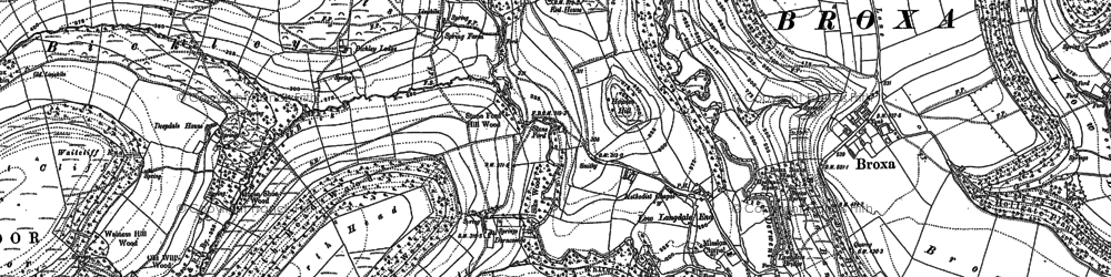 Old map of White Beck in 1890