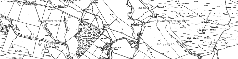 Old map of Langdon Common in 1896