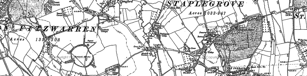 Old map of Back Stream in 1887