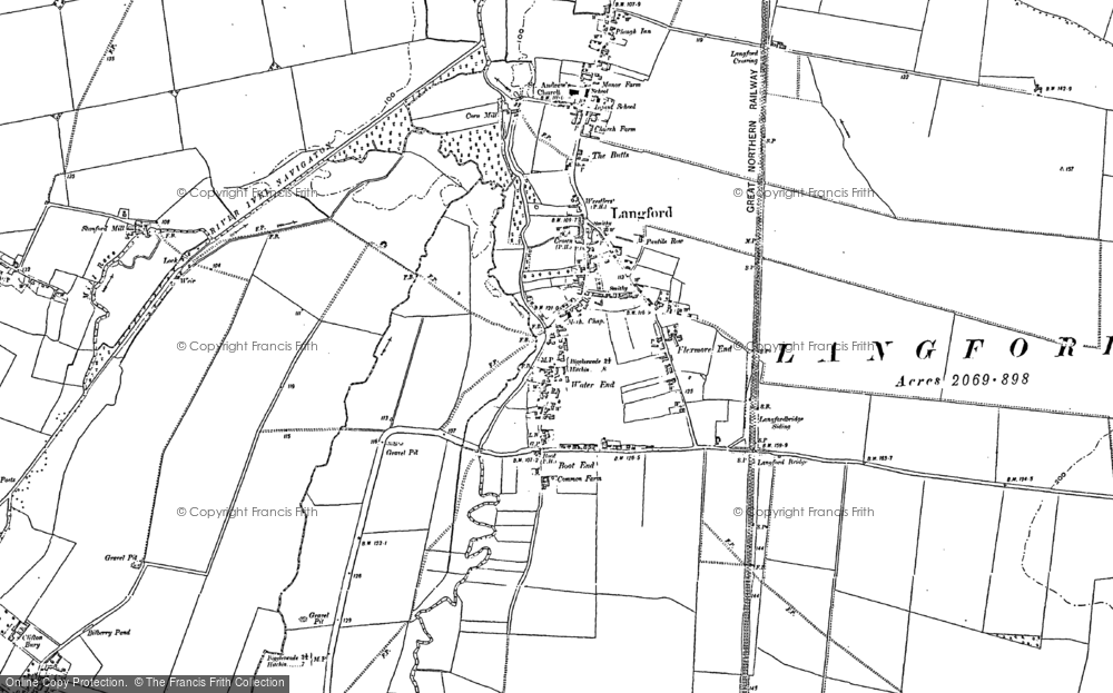 Old Map of Langford, 1900 in 1900