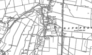 Old Map of Langford, 1900