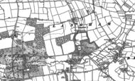 Old Map of Langham, 1883 - 1884