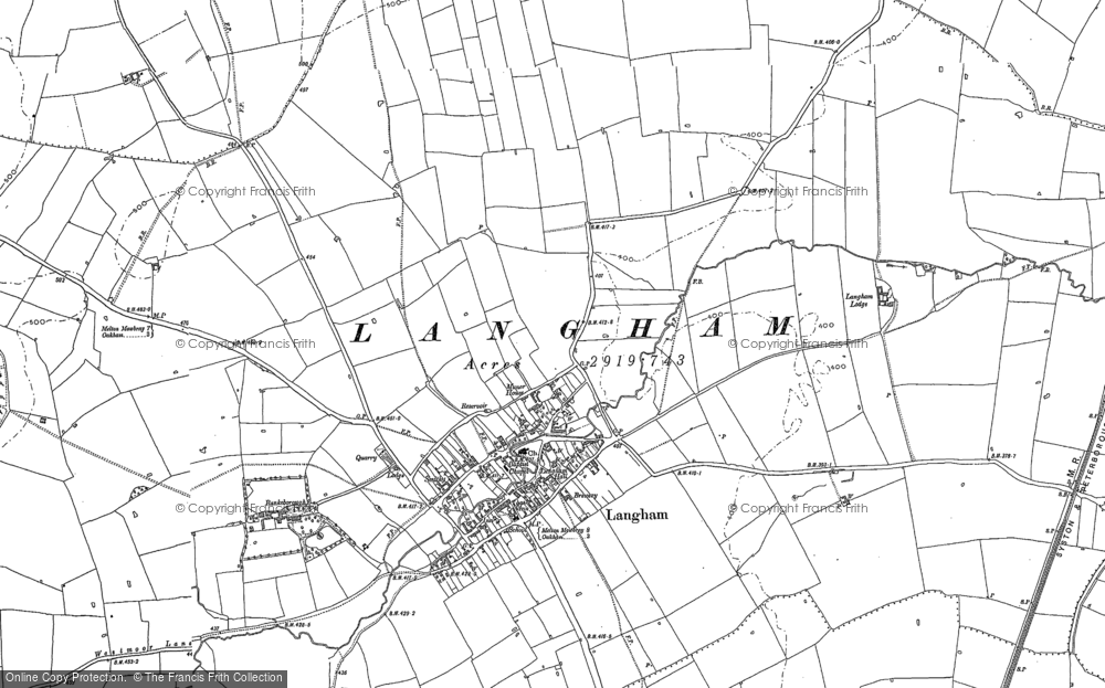 Old Map of Langham, 1884 - 1902 in 1884