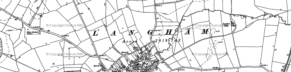 Old map of Langham in 1884
