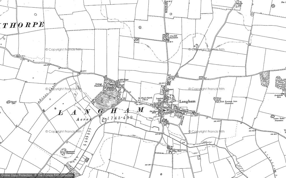 Map of Langham, 1886