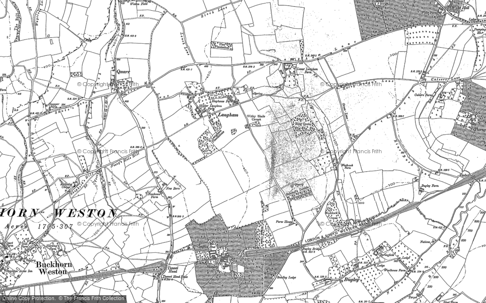 Old Map of Langham, 1900 - 1901 in 1900