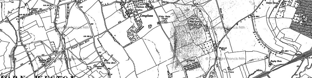 Old map of Langham in 1900