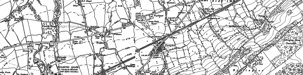 Old map of Langho in 1892