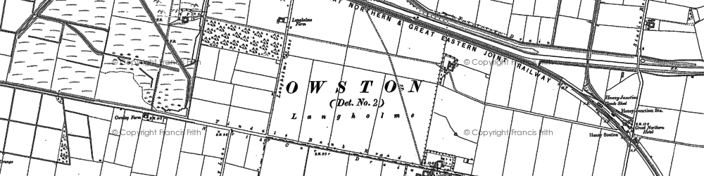 Old map of Langholme in 1898