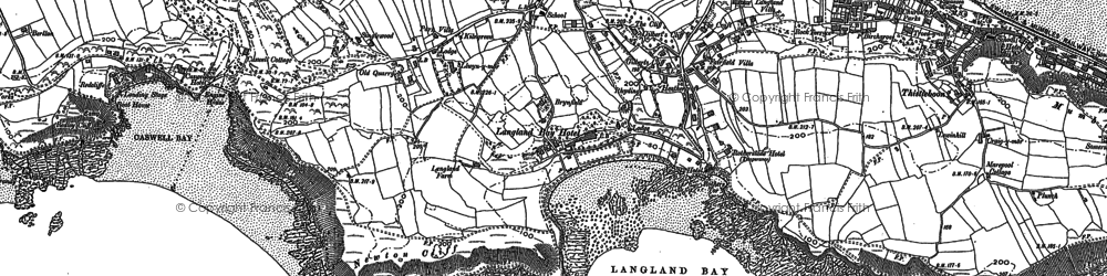 Old map of Langland in 1913