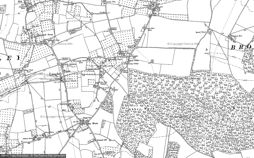 Old Map of Historic Map covering Abbey Wood in 1867
