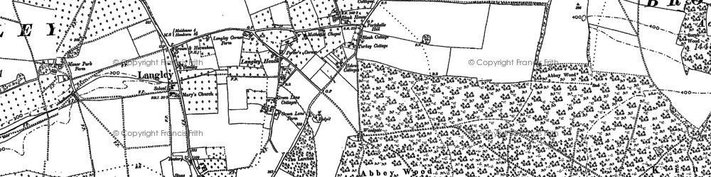 Old map of Abbey Wood in 1867