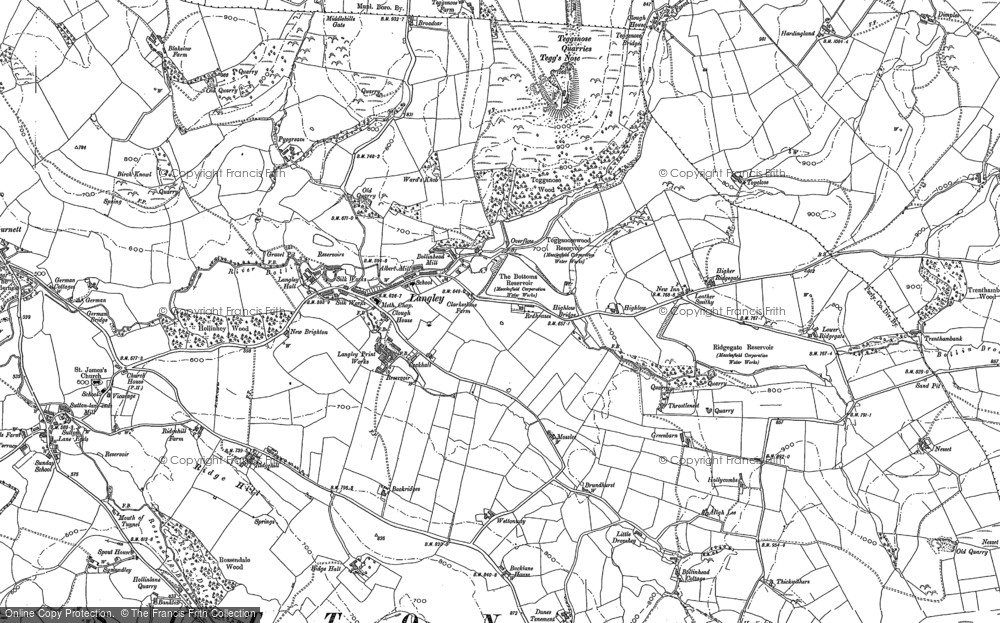 Old Map of Langley, 1897 - 1907 in 1897