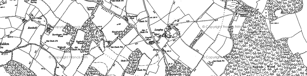 Old map of Norton Green in 1897
