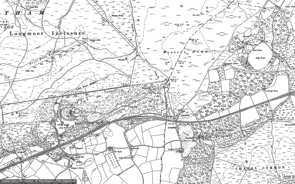 Old Map of Langley, 1910 in 1910