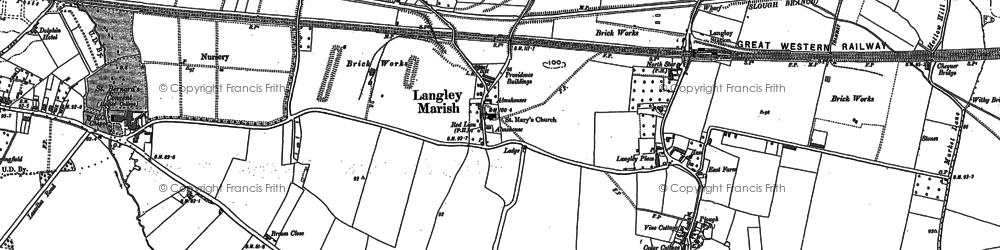 Old map of Langley in 1923