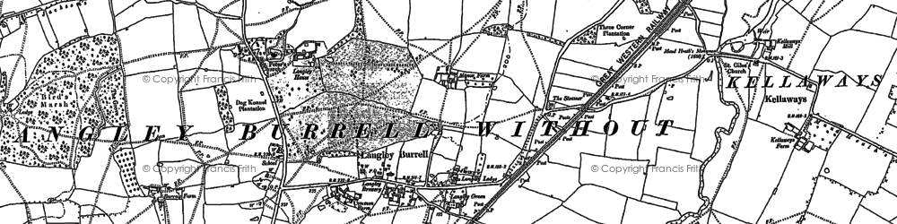 Old map of Langley Ho in 1899
