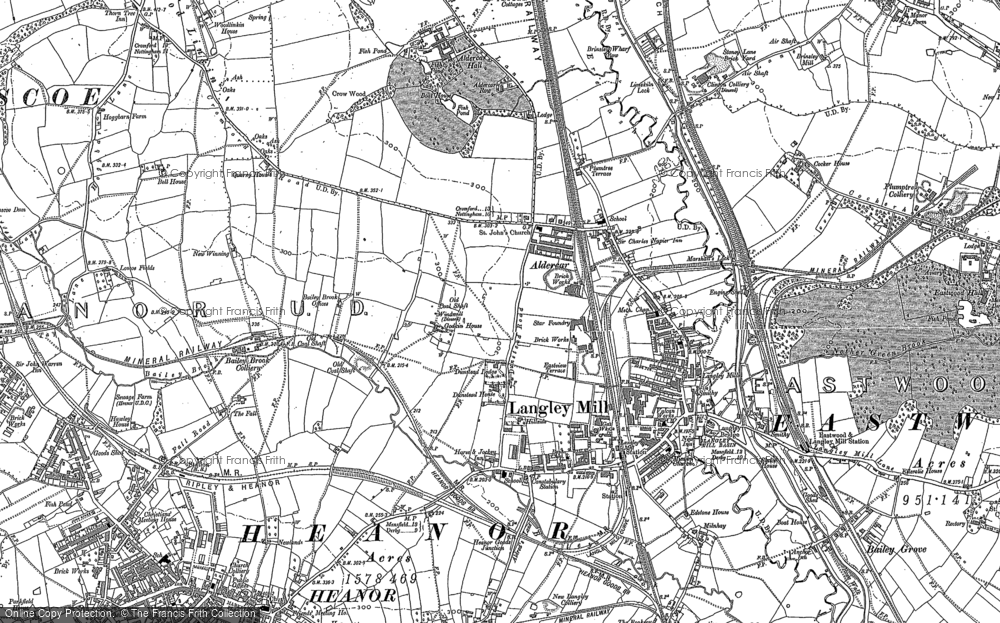 Old Map of Langley Mill, 1880 - 1899 in 1880