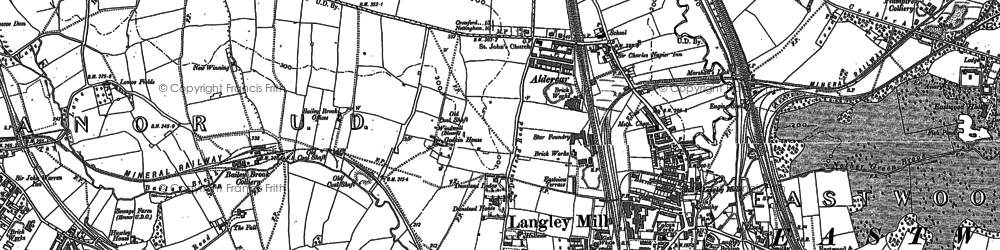 Old map of Newlands in 1880