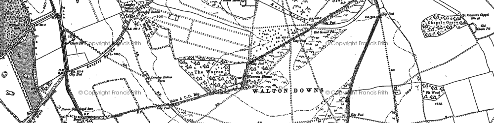 Old map of Langley Vale in 1895